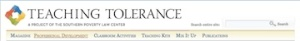 The Teaching Tolerance Website: Use It-BookMark It!