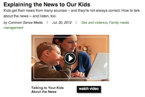 Another Tragedy for Digital Kids to Absorb -- Aurora, Colorado