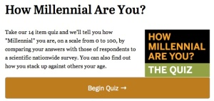 How Millennial Are You? Take this Pew Internet Quiz