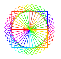 My color wheel programmed with squares.