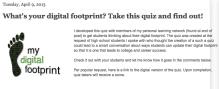 Innovative Educator Digital Footprint Quiz