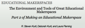 An article about makerspace tools and environment in Teacher Librarian.