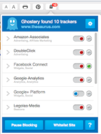 The thesaurus site has ten trackers it it's site according to Ghostery. I've turned eight of them off.