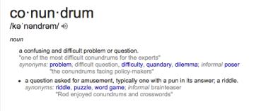 Conundrum def