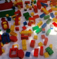 Lego blocks for early childhood playing, conversing, and learning.