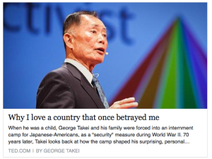 George Takei's TED Lecture About His Family's Internment During WW II